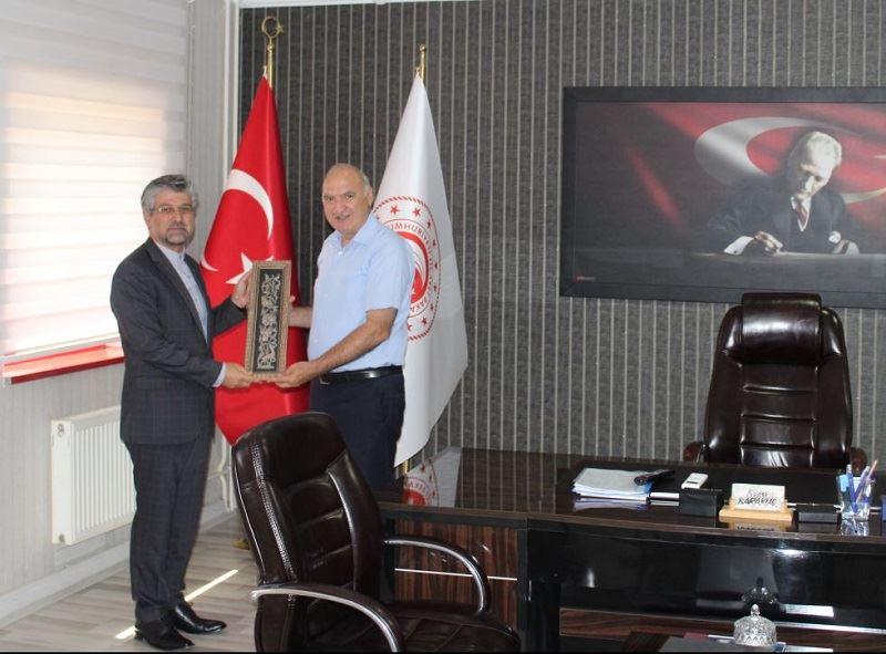 İran İslam Cumhuriyeti Erzurum Başkonsolosunun ziyareti
